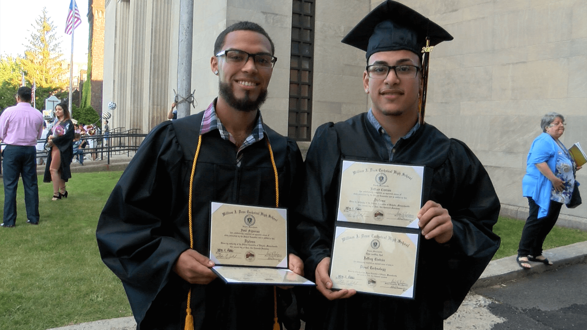 2017 graduates 2 male students