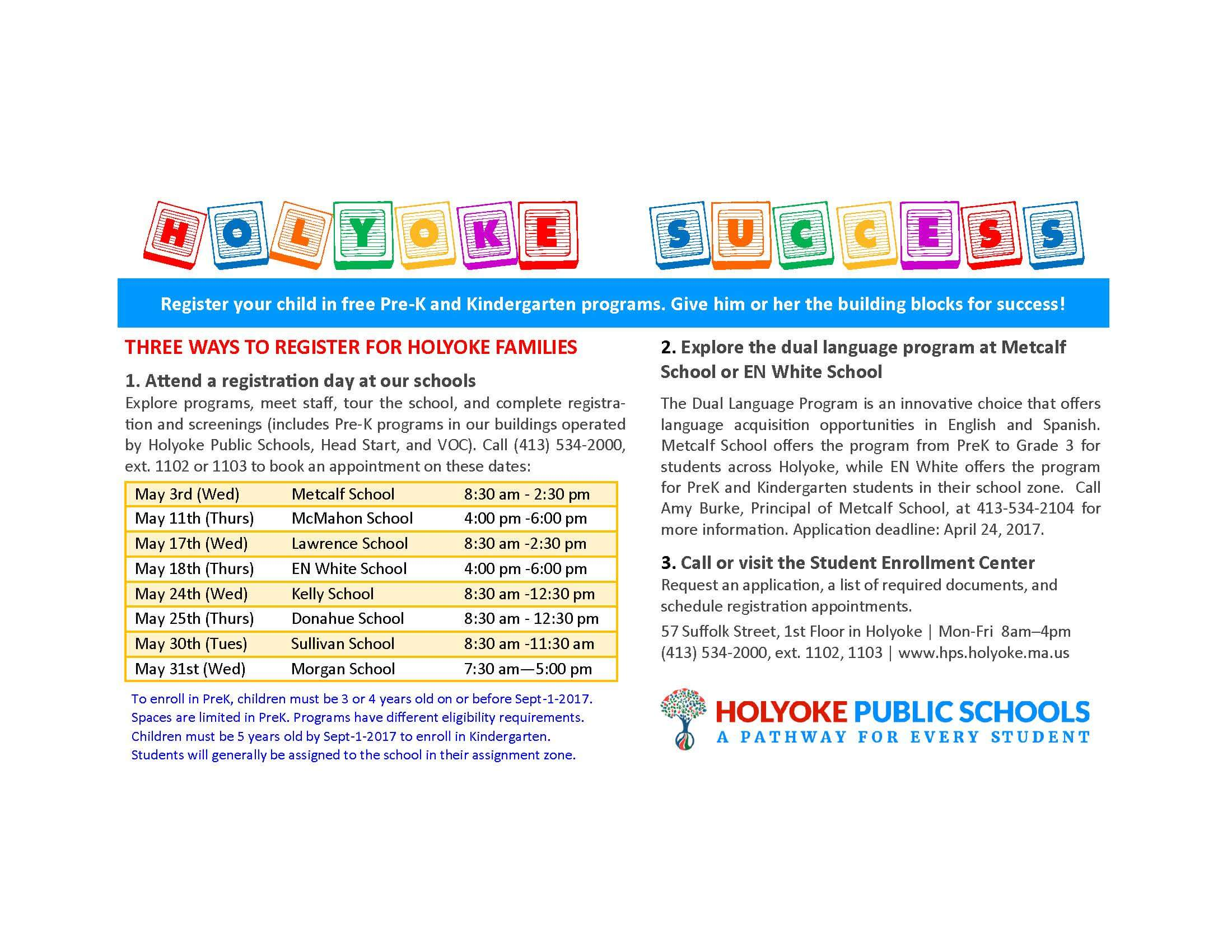 Pre-K and K registration Ad English 2017-18 v1