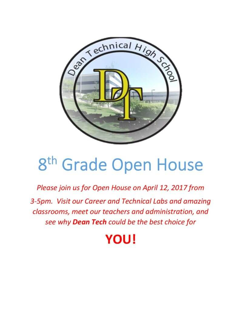8th Grade Open House Flyer Dean