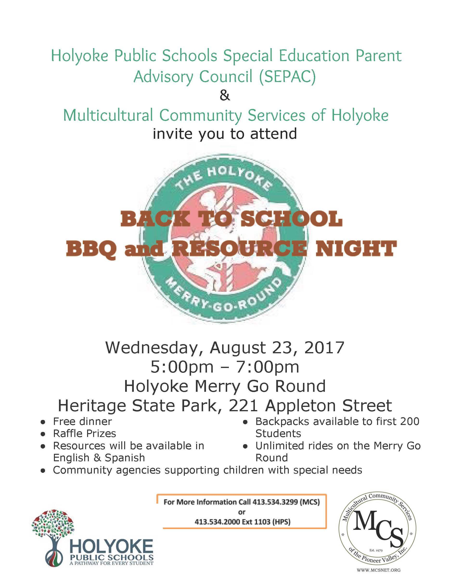 SEPAC Back to School Barbeque