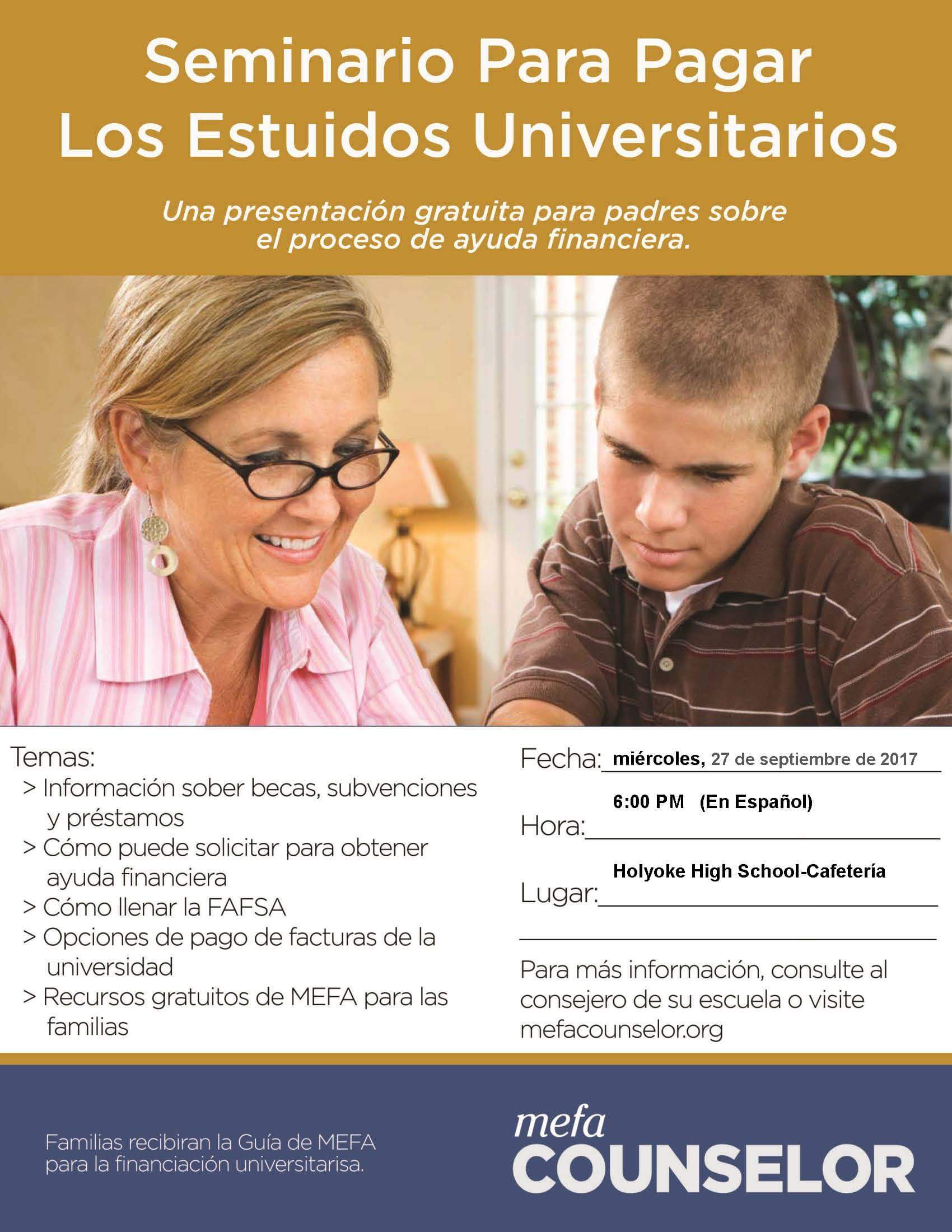 Financial Aid Night Spanish