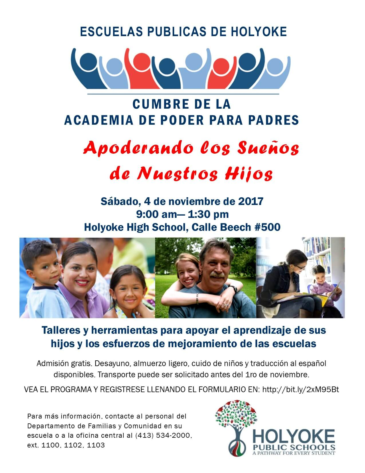 Parent Power Academy flyer Spanish