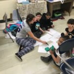 vacation academy students working together math
