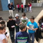 vacation academy students outside