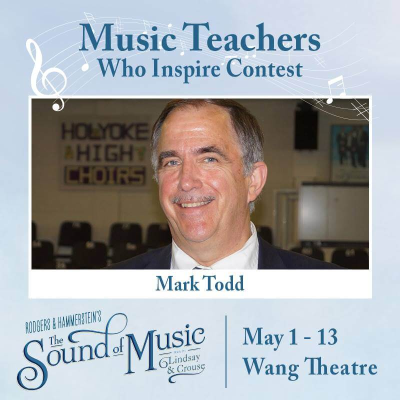 HPS Educator Mark Todd wins The Boch Center's Music Teachers Who Inspire Contest