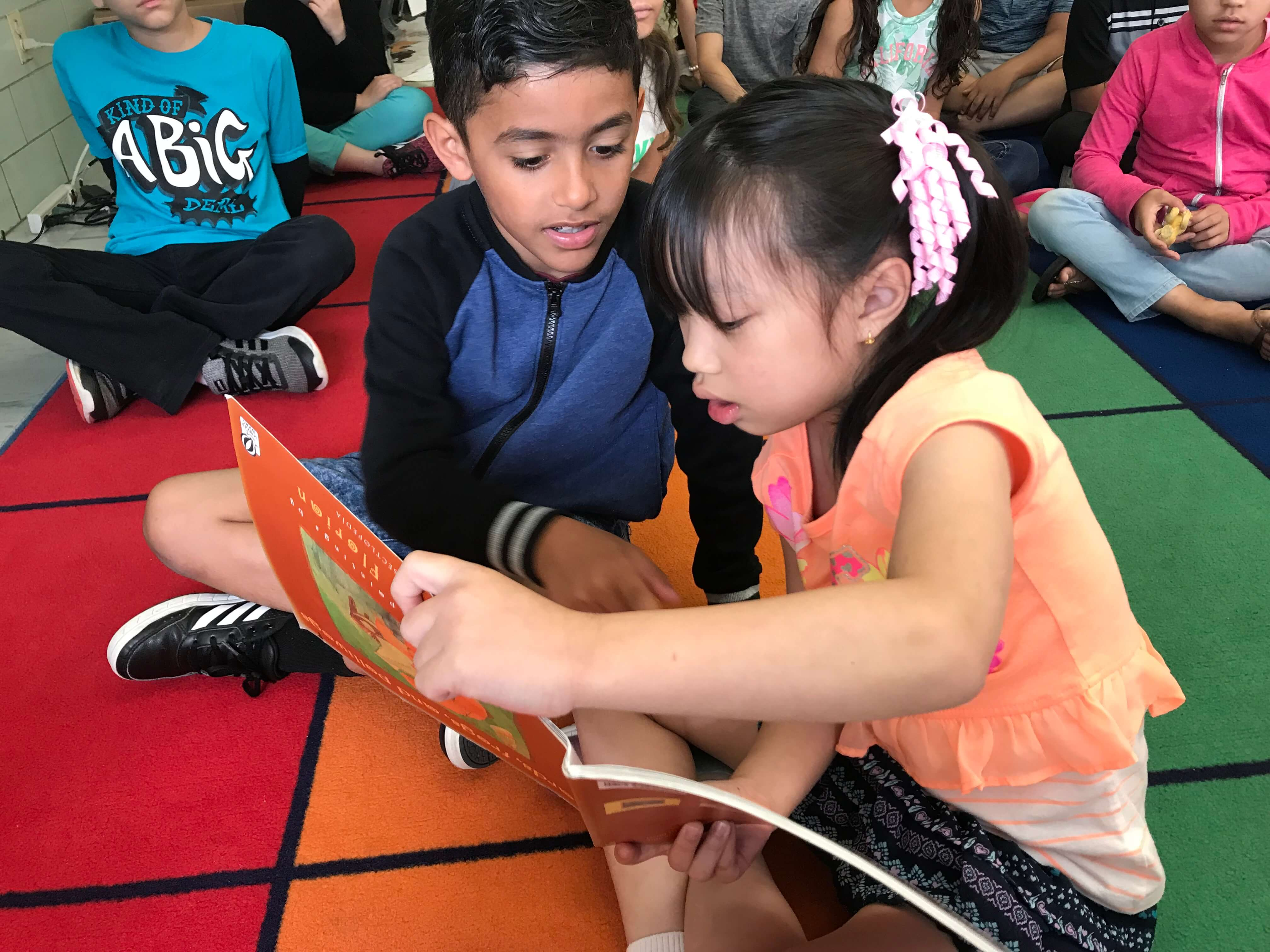 Sullivan 2nd Grade Students Boy and Girl Reading