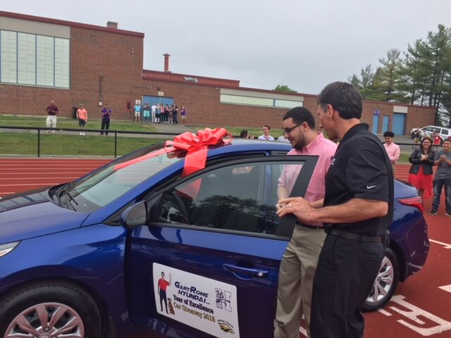 Antonio Santos wins Gary Rome Year of Excellence Car Giveaway
