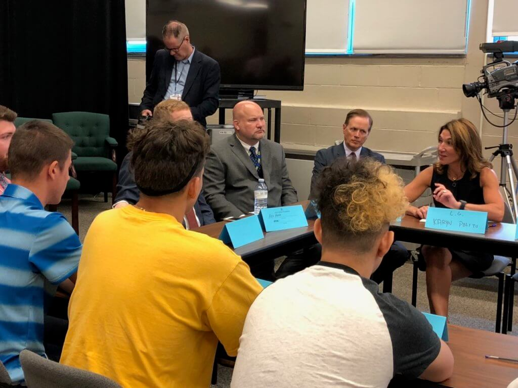 9-7-18 Holyoke Update Lt Governor Polito visit early college