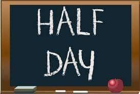 Wednesday, November 21st is a Half Day – See dismissal times for each school.  Schools and district offices will also be closed November 22nd-23rd.