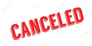 Tuesday, January 29th Evening Cancellations