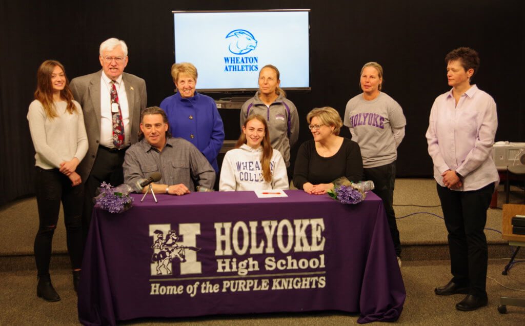 c1203fd58a4 PRESS RELEASE  College Signing Day for Holyoke High School s Bridget Healy