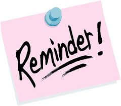 Reminders for Next Week – School Vacation, Central Office Hours, and Vacation Academy Program