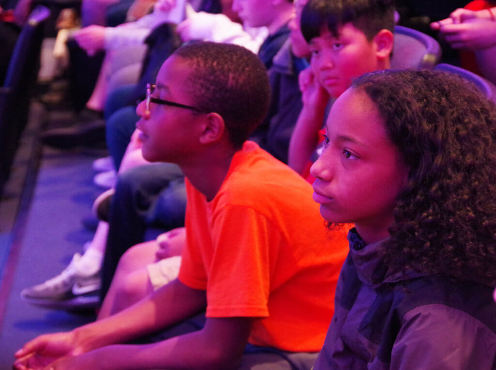 male and female middle school students listening to presentation at the Basketball Hall of Fame 2019