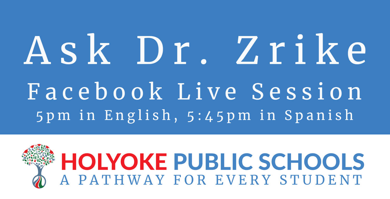 Dr. Zrike's Facebook Live Session this Wednesday