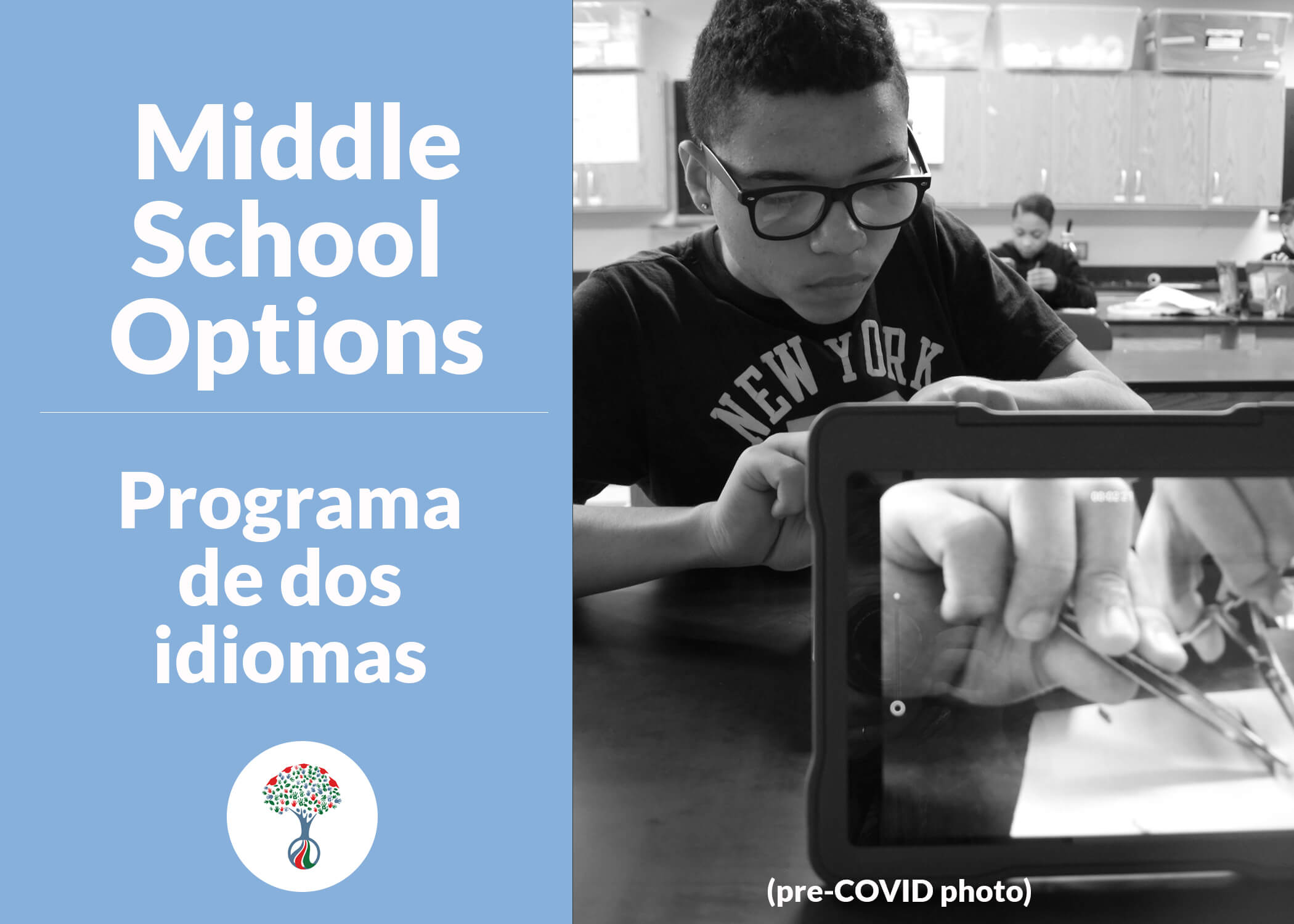 Middle School Options Lottery Applications are Now Available for the 2021-22 SY!